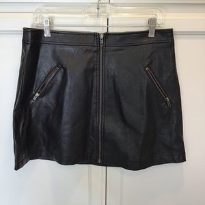 BP Faux Leather Miniskirt